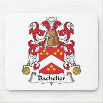 Bachelier Family Crest Mousepad