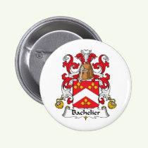 Bachelier Family Crest Button