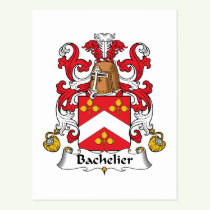 Bachelier Family Crest Postcard