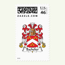 Bachelier Family Crest Stamps