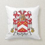 Bachelier Family Crest Throw Pillows