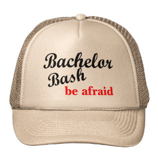 Bachelor Bash Be Afraid Trucker Hat