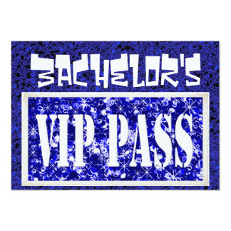 Bachelor blue vip party invitation