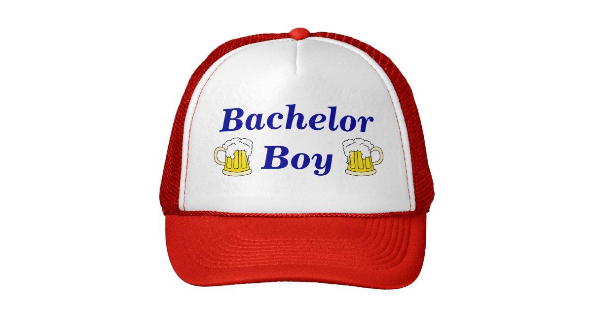 Bachelor Boy Trucker Hat Zazzle