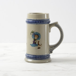 Bachelor Button Beer Stein