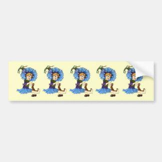 Bachelor Button Bumper Sticker