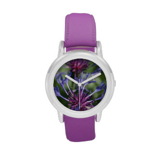 Bachelor Button Flowers Wristwatches