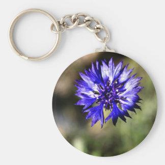 Bachelor Button - Key Chain