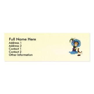 Bachelor Button Mini Business Card