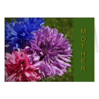 Bachelor Button Mother Birthday Card