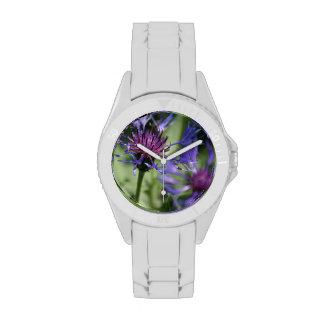 Bachelor Button Plant Wristwatch