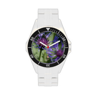 Bachelor Button Plant Wristwatches