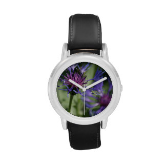 Bachelor Button Plant Wrist Watches