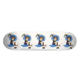 Bachelor Button Skateboard Deck