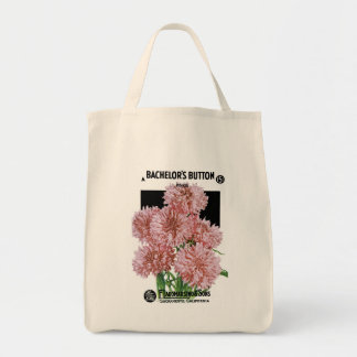 Bachelor Buttons Seed Packet Label Tote Bag