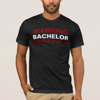Bachelor Expiration date t-shirt customize