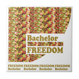 BACHELOR FREEDOM : Ideal Gift for ENGAGEMENT Tiles