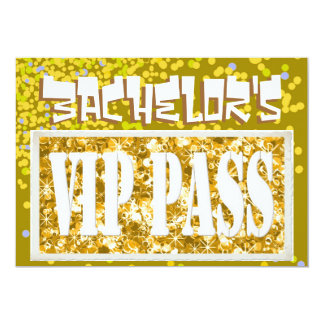 Bachelor gold vip party invitation