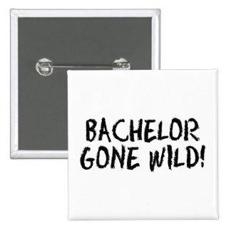 Bachelor Gone Wild (Blk) Pinback Button