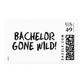 Bachelor Gone Wild (Blk) Postage Stamp