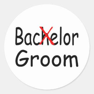 Bachelor Goom (Blk) Classic Round Sticker