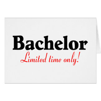 Bachelor Limited Time Only Card