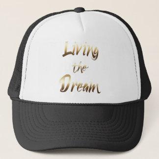 Bachelor Living the Dream Gold Trucker Hat