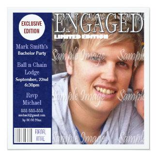 Bachelor magazine photo PERSONALIZE Personalized Invitations