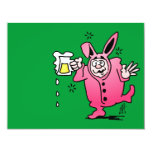 "Bachelor night in a Bunny Suit Coffee Mug 4.25"" X 5.5"" Invitation Card"