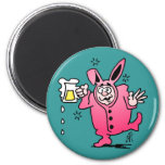 Bachelor night in a Bunny Suit Refrigerator Magnets