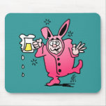 Bachelor night in a Bunny Suit Mouse Pad