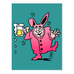 Bachelor night in a Bunny Suit Postcard