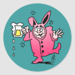 Bachelor night in a Bunny Suit Round Stickers