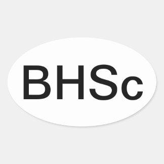 Bachelor of Health Science Nursing Oval Sticker
