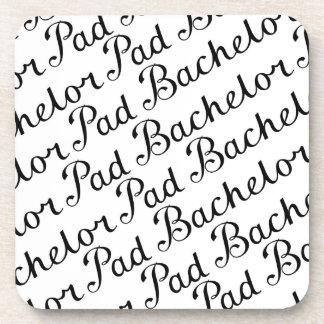 Bachelor Pad Diagonal Script Pattern B&WII Beverage Coasters