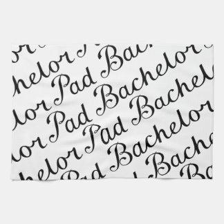 Bachelor Pad Diagonal Script Pattern B&WII Towel