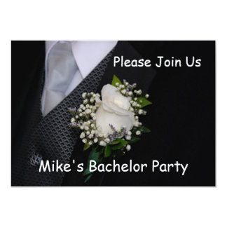Bachelor Party 5x7 Paper Invitation Card