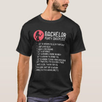 BACHELOR PARTY: Bachelor Party Checklist T-Shirt