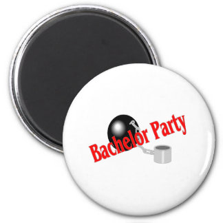 Bachelor Party (Ball and Chain 2 Inch Round Magnet