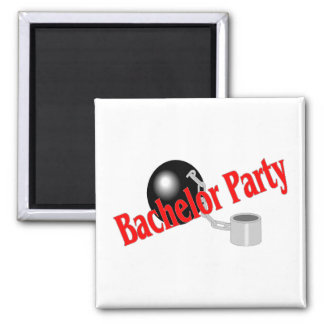 Bachelor Party (Ball and Chain 2 Inch Square Magnet
