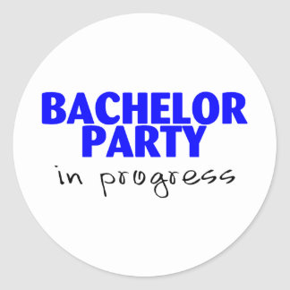 Bachelor Party (Ball and Chain Classic Round Sticker