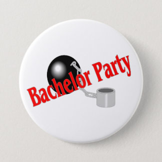 Bachelor Party Ball and Chain Pinback Button