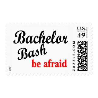 Bachelor Party Be Afraid Postage Stamps