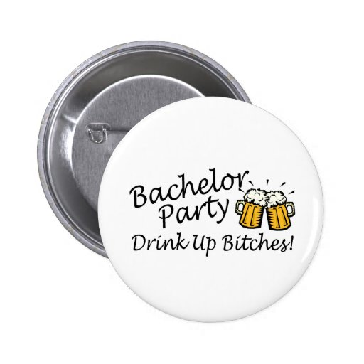 Bachelor Party Beer Jugs Button