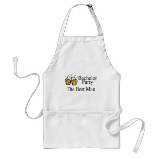 Bachelor Party Best Man (Beers) Adult Apron