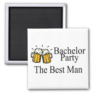 Bachelor Party Best Man (Beers) 2 Inch Square Magnet