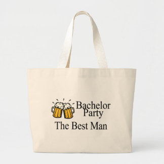 Bachelor Party Best Man Wedding Large Tote Bag