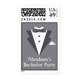 Bachelor Party Black Suit Medium Postage