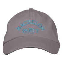 Bachelor party blue embroidered baseball hat