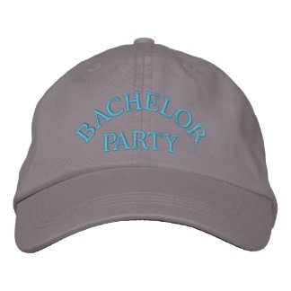 Bachelor party blue embroidered baseball cap